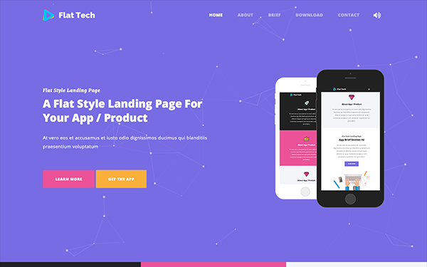Download Flat Tech - Flat Landing Page Template - Smooth Template ...
