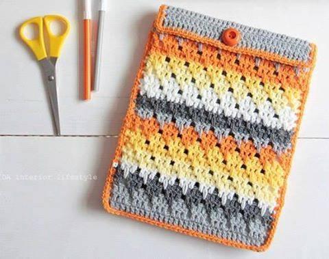Patrón #1605: Estuche a Crochet