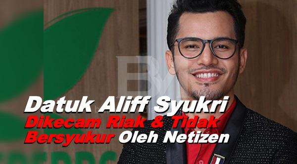 Mengadu Rumah Tidak Selesa, Datuk Aliff Syukri Dikecam Riak & Tidak Bersyukur Oleh Netizen