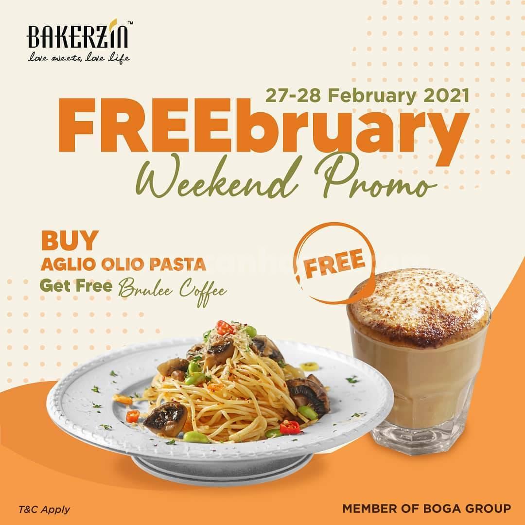 BAKERZIN Weekend Promo ! Buy Aglio Olio pasta & Get a free Brulle Coffee