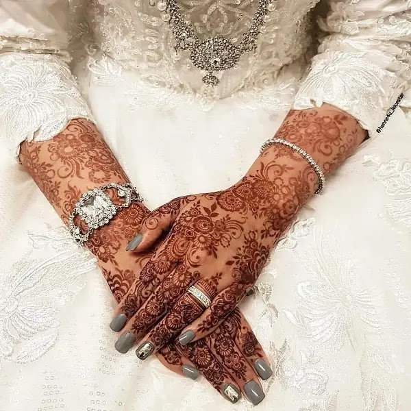 bridal pakistani mehndi designs