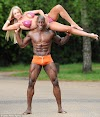 MEET DON AKIM THE NIGERIAN BODY BUILDER AND HIS BRITISH FIANCEE, THEY ARE BOTH WORLD BODY BUILDING CHAMPIONS