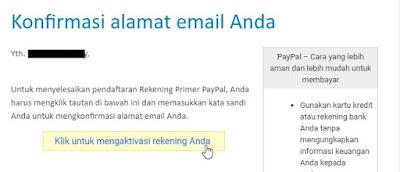 Cara Mengaktivasi Rekening Primer PayPal