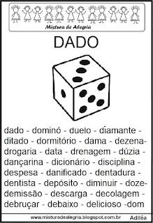 Fichas de leitura - letra D
