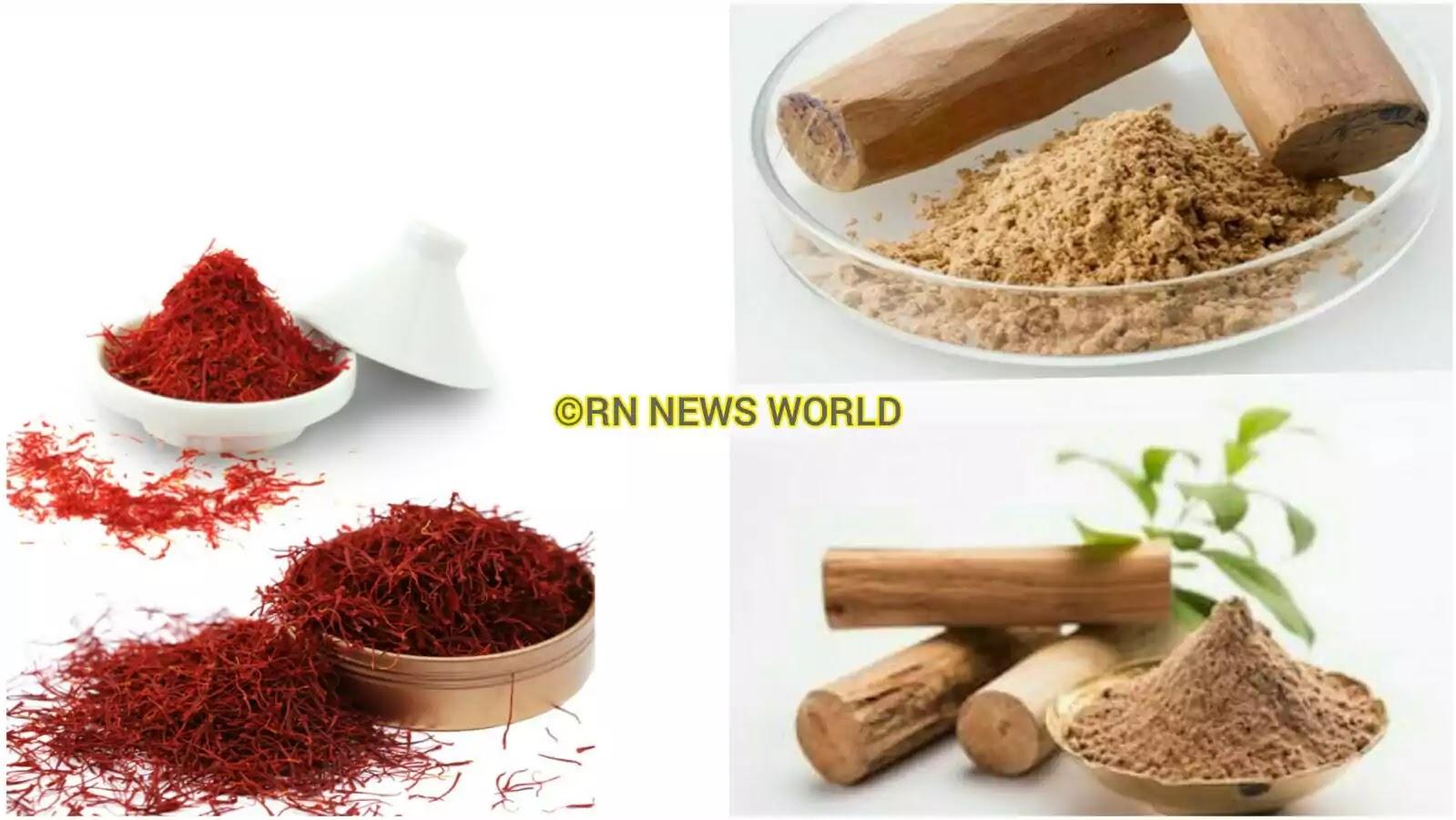 Saffron face pack for skin whitening