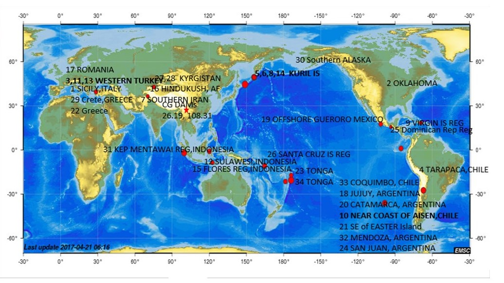 an analysis of the earthquakes worldwide Follow the directions below to prepare for an analysis of any relationships that  may  for example, the earthquake in the newspaper  earthquakes in the world.