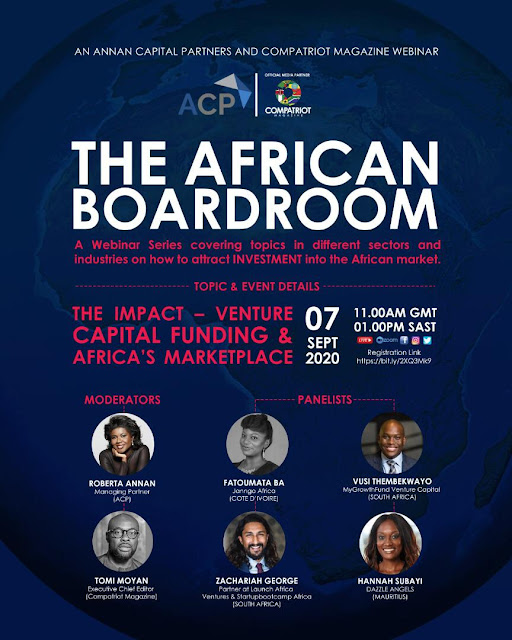 Annan Capital Partners Set To Host The African Boardroom Webinar Series