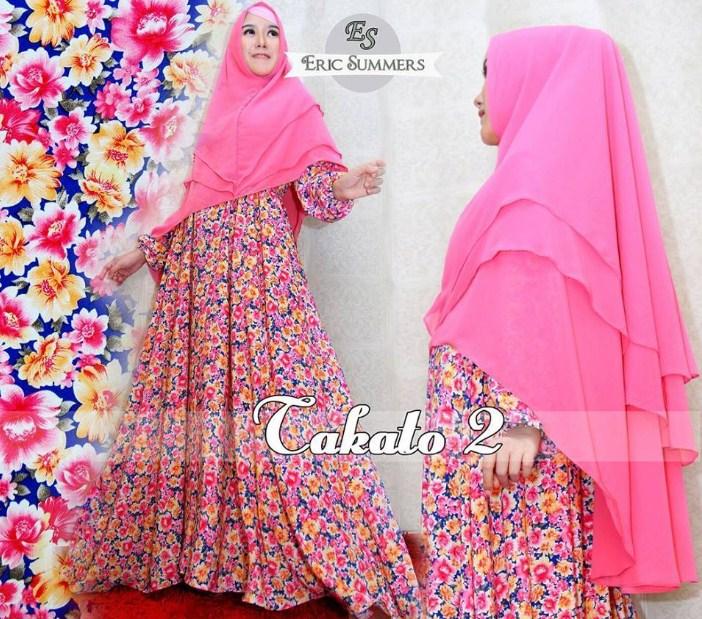 Contoh Desain Baju Muslim Wanita Bahan Satin Model Terkini