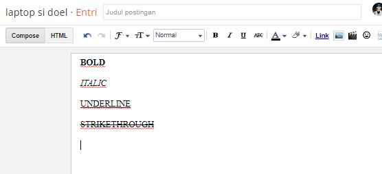 contoh text bold