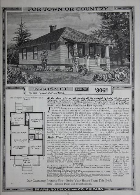 Sear Kismet in 1918 catalog