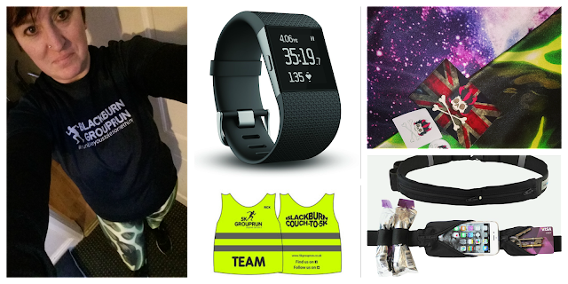 Running outfit, GroupRun Blackburn, Wild Bangarang, Fitbit Surge, Fit Belt,
