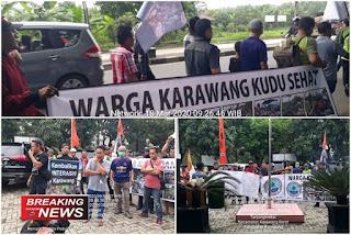 Aksi demo KPLHI Kabupaten Karawang