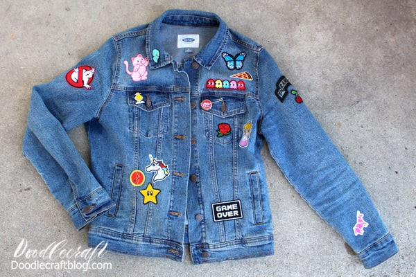 Supplies Needed for Upcycled Jean Jacket with Patches: Jean Jacket in need of a change Patches (iron-on are a dream) Cricut EasyPress Mini Cricut Protective Sheet Fabric Fuse (for non iron-on patches)  Here's some patches that I love! 60 pcs Random Patches Bernie Sanders in mittens Patch Hippie Retro Patches Solar System Space Patches Pokemon Patches Cupcakes and Sweets Patches  ************************ Want a custom patch designed just for you??? Check out Melarky at Etsy for custom patches!