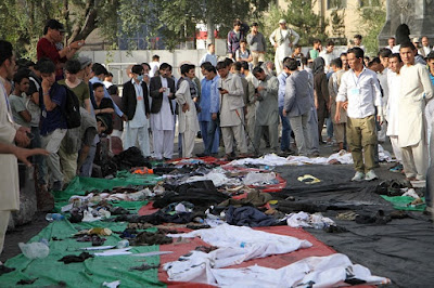 KABUL bombing ISIS Claims Responsibility for 80 Killed, 231 Wounded in Kabul
