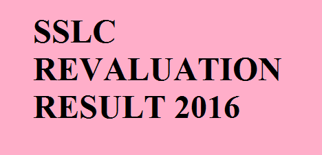 SSLC Revaluation Results 2016