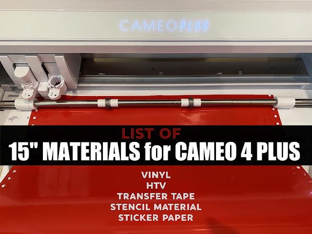 "15"" Silhouette CAMEO 4 Plus, 15"" Silhouette CAMEO Plus, CAMEO 4 Plus, Heat Transfer Vinyl, Silhouette CAMEO Plus"