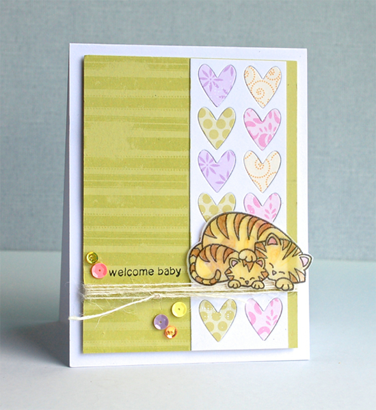 Wild Child baby card by Diane - Inky Paws Challenge #9 Winner | Newton's Nook Designs