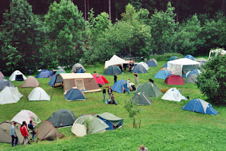 Photo of tents by Nadine Wegner