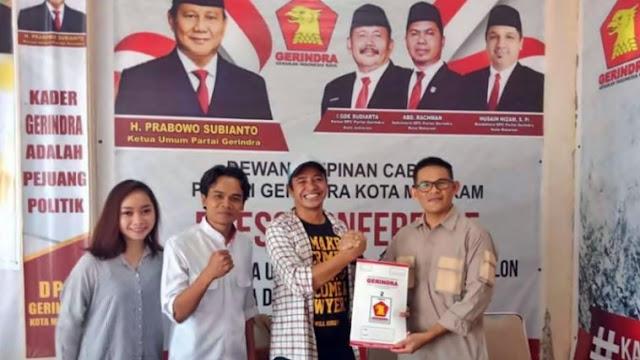 Ketua Projo Daftar Jadi Calon Wali Kota Mataram Lewat Gerindra