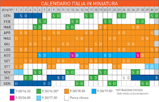 Calendario Italia in Miniatura 2016