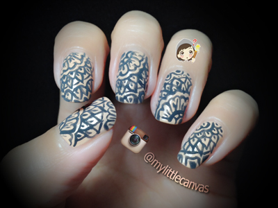 Mylittlecanvas Henna Nail Design In