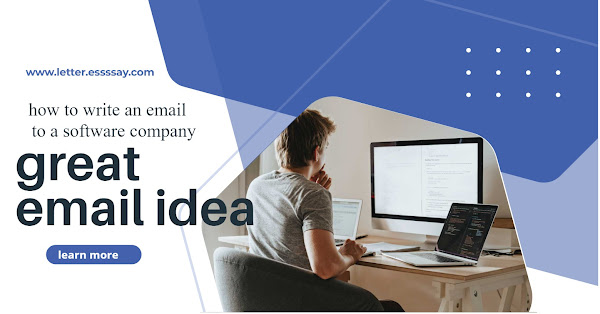 How to write an email to a software Company