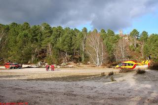 Pompiers et équipe du GRIMP 77 sur la Vallée Close