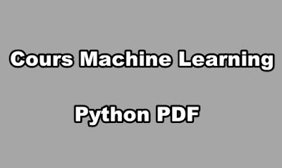 Cours Machine Learning Python PDF