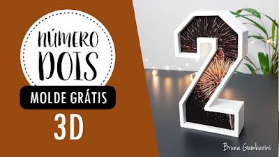 MOLDE NÚMERO 2 3D COMO MONTAR BRUNA GAMBARINI GRÁTIS