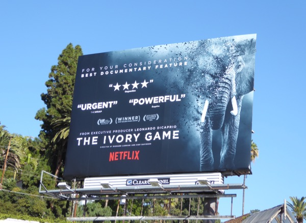 Ivory Game documentary awards season billboard