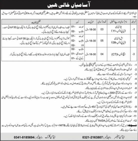 EME Center Quetta Jobs 2021 Pak Army Latest Career Opportunities