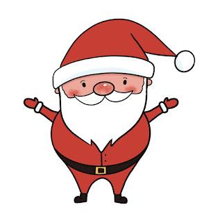 Easy step by step Santa drawing tutorial