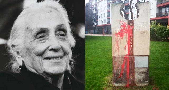 Mancillan dos monumentos dedicados a la memoria de Dolores Ibárrurí, La Pasionaria