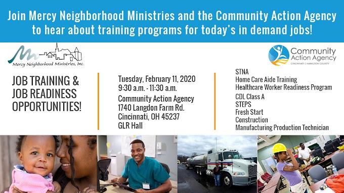 CAA and MNM Present: Job Training & Readiness Information Session - February 11, 2020