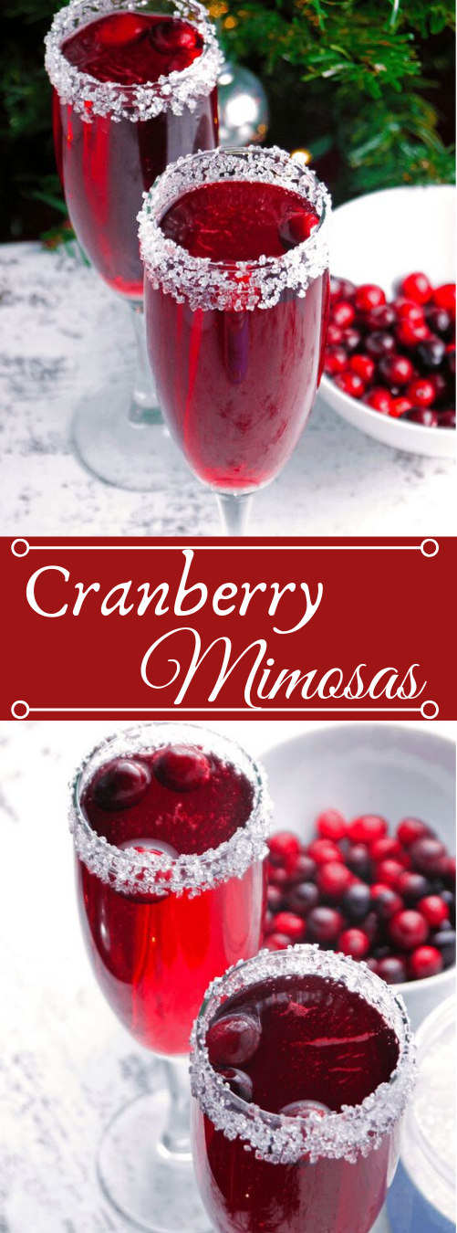 Cranberry Mimosa #drink #cocktail #cranberry #mimosa #sangria