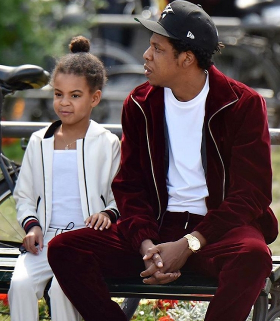 Jay Z enjoys a day at the park with Blue Ivy in Berlin (photos)