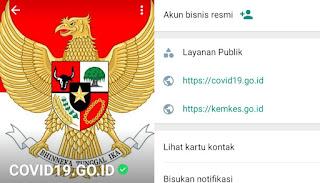 Mencoba Layanan Chatbot WhatsApp Covid-19