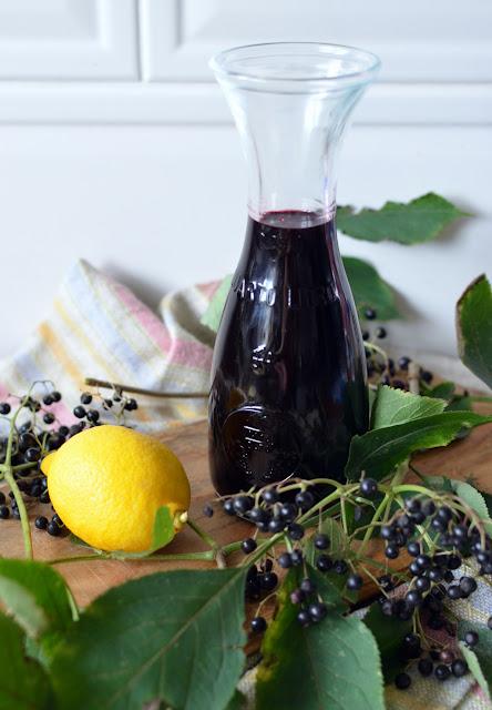 sok%2Bbez%2Bczarny%2Bthermomix Sok z czarnego bzu z cytryną