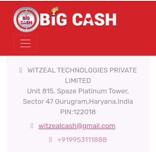 Big Cash Contact