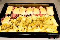 schabowe pieczone, dania obiadowe, ziemniaki pieczone, obiad, propozycja na obiad, szybki obiad, danie obiadowe, niedzielny obiad, obiad na niedzielę,