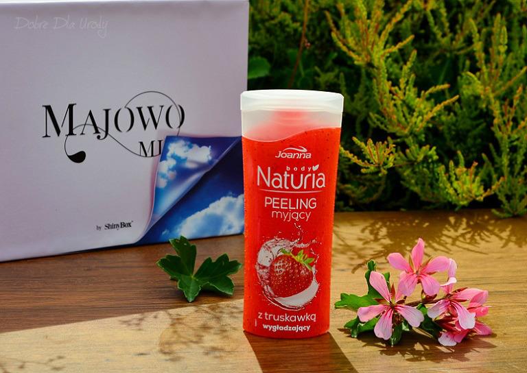 ShinyBox Majowo Mi - recenzja Joanna Peeling myjący do ciała z truskawką Naturia Body