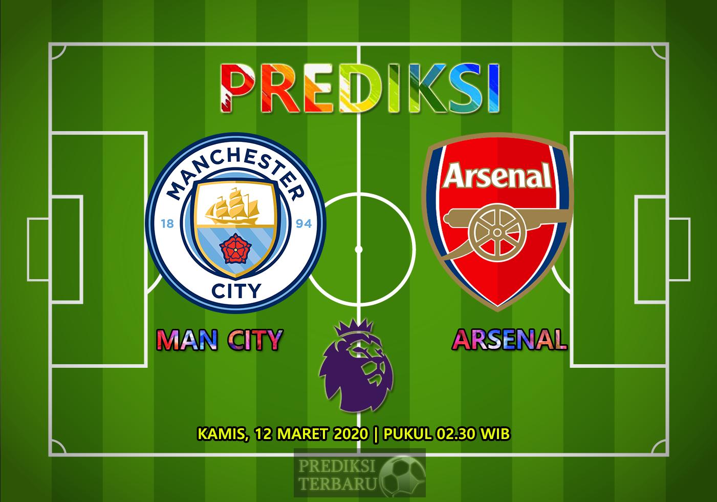 Prediksi Manchester City Vs Arsenal Kamis 12 Maret