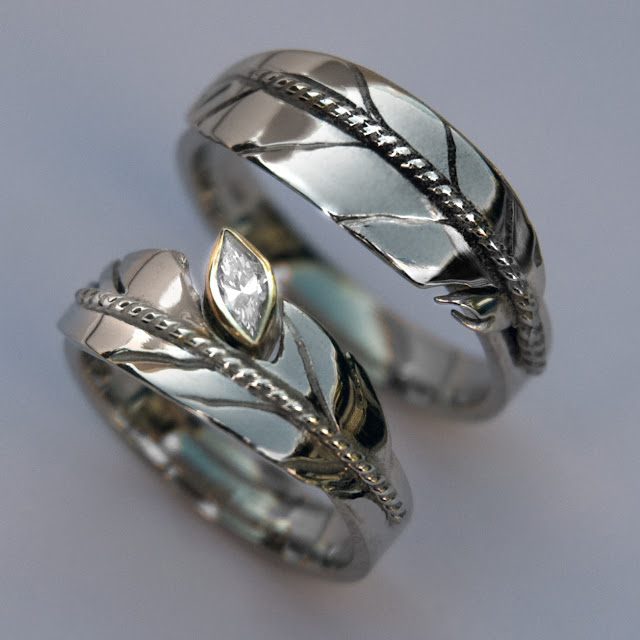 Oshkigin white gold wedding bands