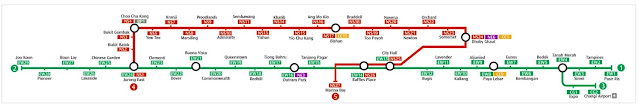 Mappa metropolitana di Singapore