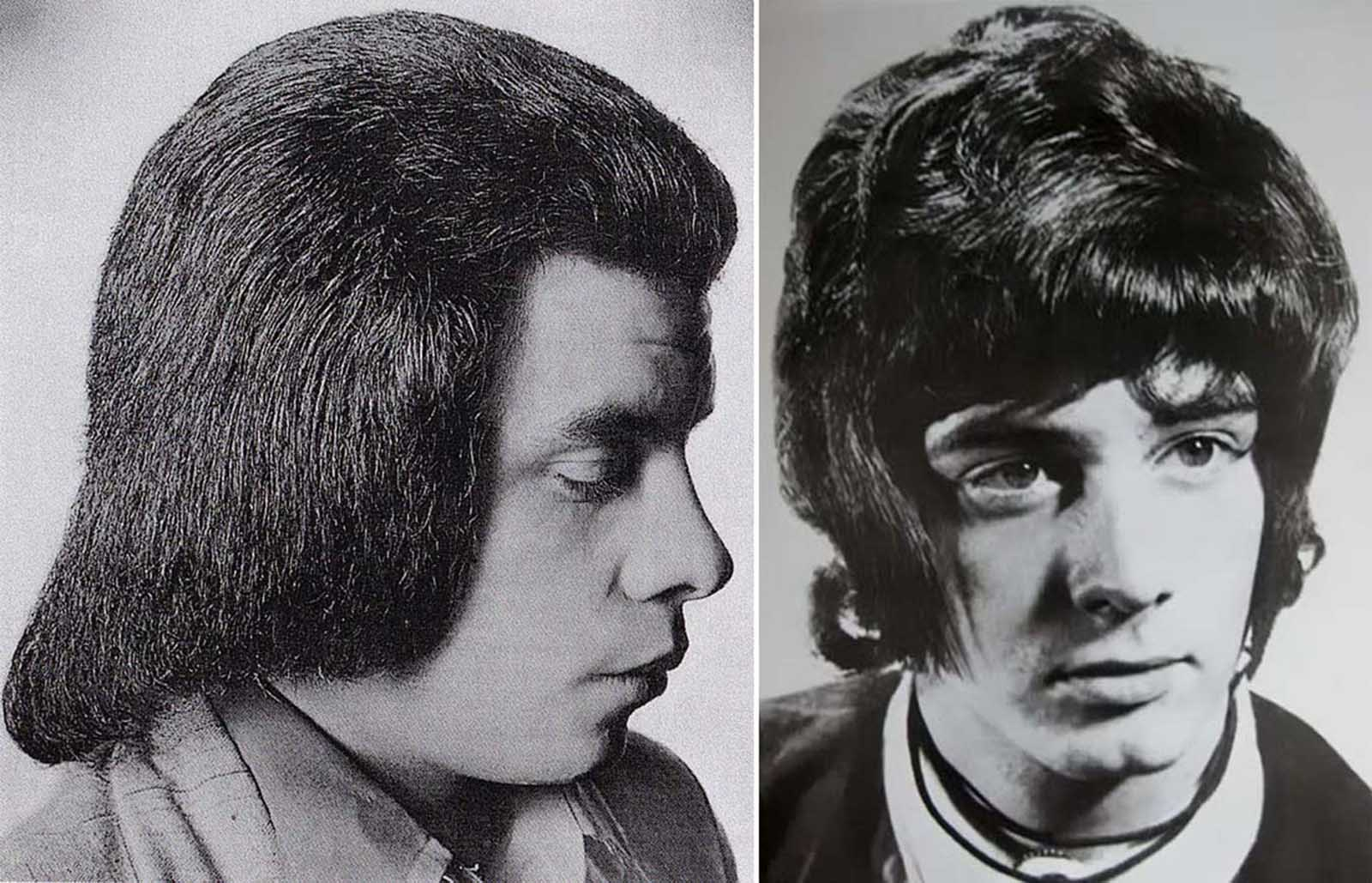 romantic men's hairstyle from the 1960s–1970s