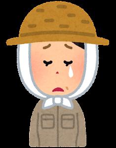 農家の女性のイラスト(泣いた顔)
