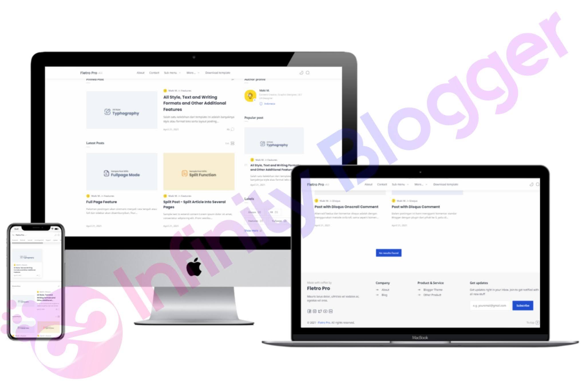 Download Fletro 6.0 Premium Blogger Template Free