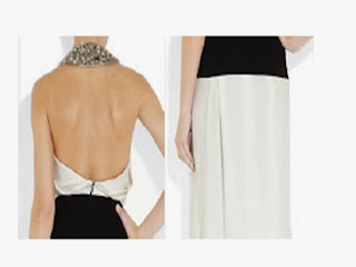 patrón de vestido de fiesta de Victoria Beckham