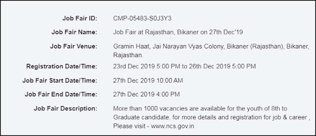 Job fair in bikaner