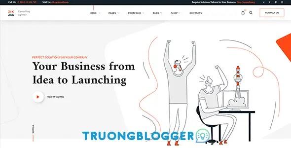 Theme WordPress đại lý tư vấn sản phẩm dịch vụ - ZikZag V1.1.3 Full